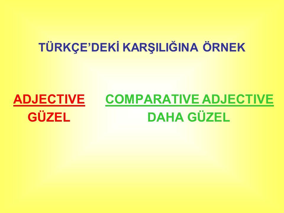 COMPARATIVES'İN AMACI Başlığımızın Türkçe karşılığı Karşılaştırma Sıfatları dır.