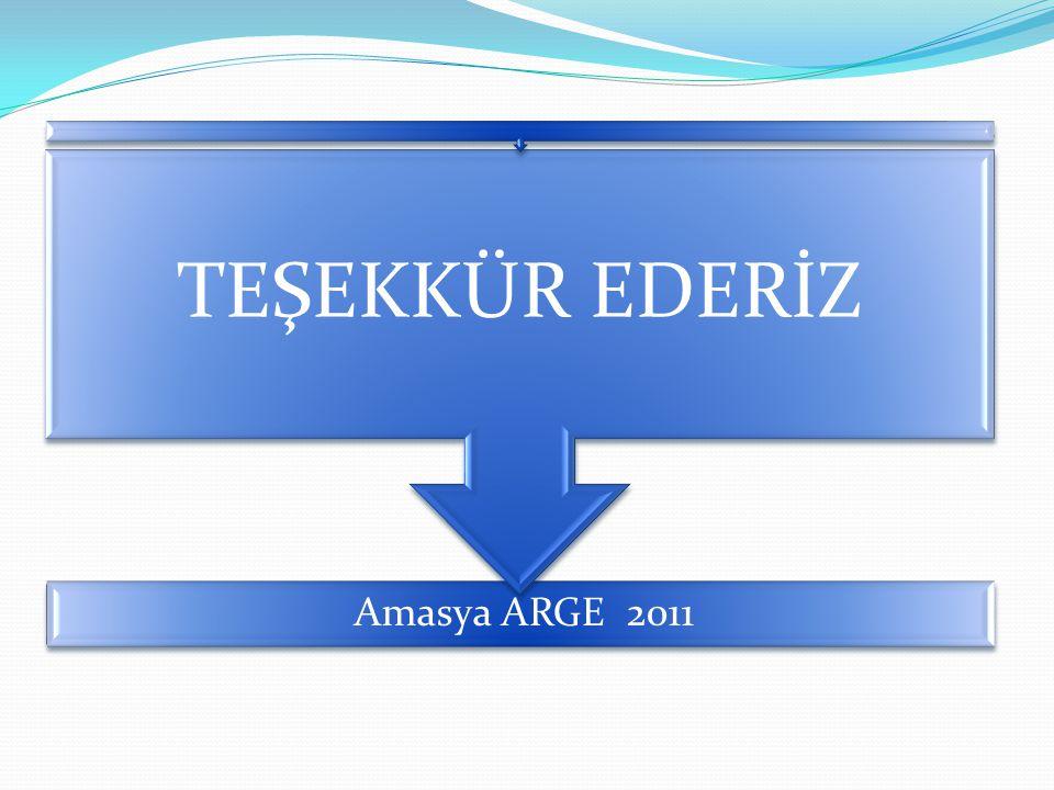 Amasya ARGE 2011 TEŞEKKÜR EDERİZ