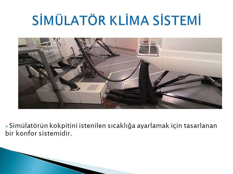  Simülatörün kokpitini istenilen sıcaklığa ayarlamak için tasarlanan bir konfor sistemidir.
