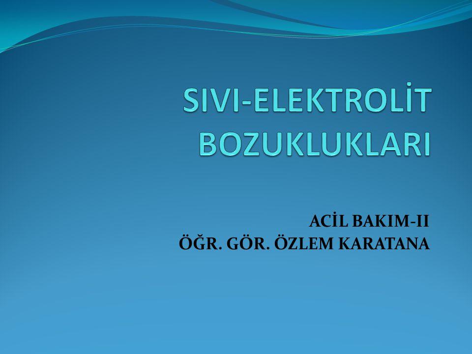 Kalsiyum Azlığı (Hipokalsemi) Serum kalsiyum düzeyinin 4.5 mEq/L ya da 8 mEq/L düşük olması durumudur.