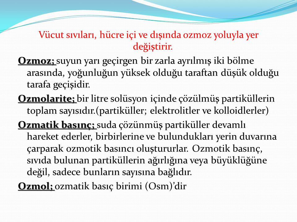 Sıvı-Elektrolit Bozuklukları Volüm DeğişiklikleriElektrolit Dengesizlikleri HipovolemiSodyum(Na⁺) Dengesizlikleri HipervolemiPotasyum (K⁺) Dengesizlikleri Kalsiyum (Ca⁺₂) Dengesizlikleri Magnezyum (Mg⁺⁺) Dengesizlikleri