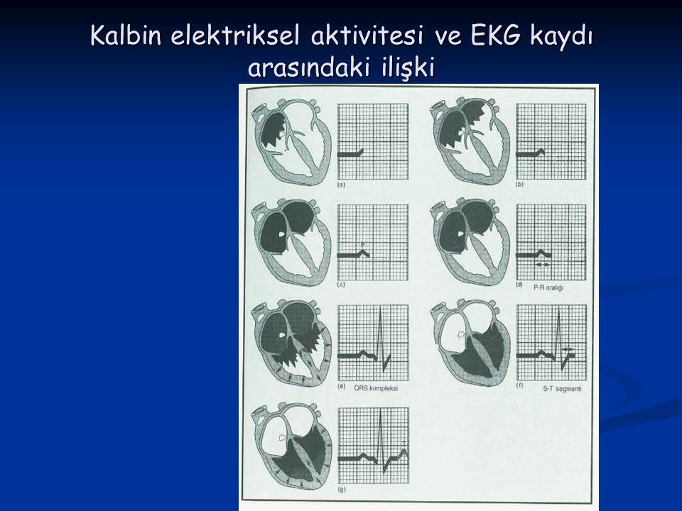 KARDİYAK SİKLUS Kalp atımı sırasında kalpte meydana gelen elektriksel ve mekanik değişikliklere (basınç ve volüm değişikliği) kardiyak siklus adı veri