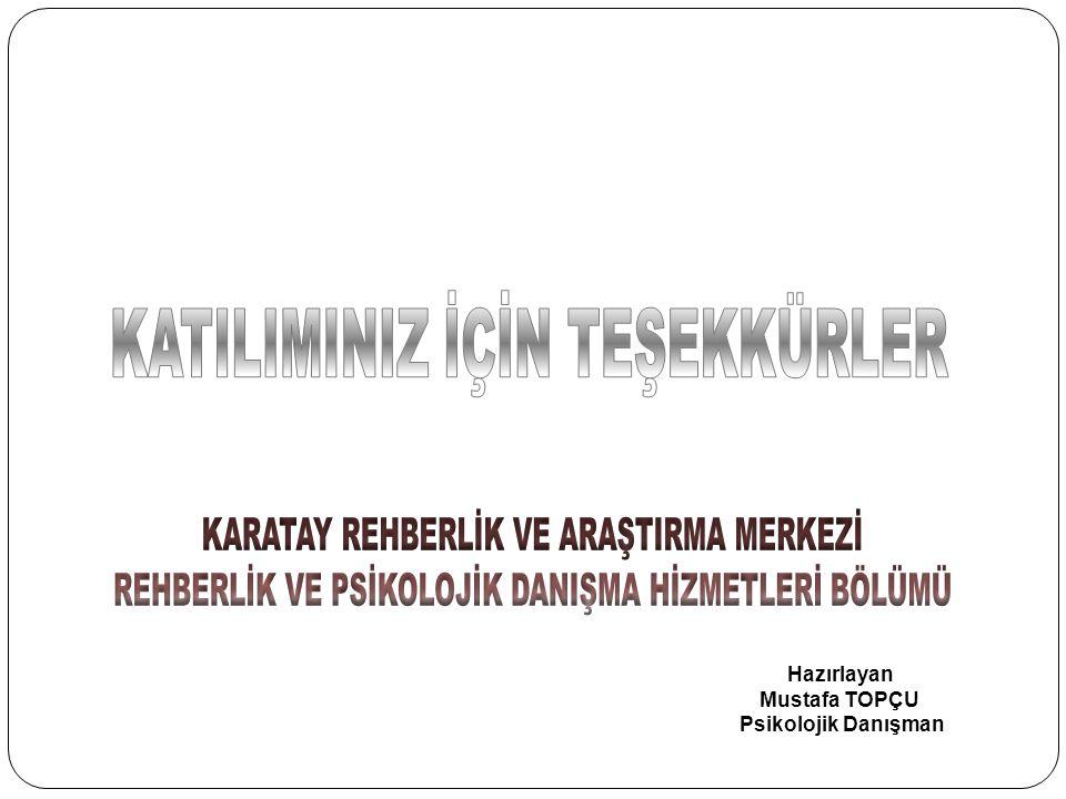 Hazırlayan Mustafa TOPÇU Psikolojik Danışman