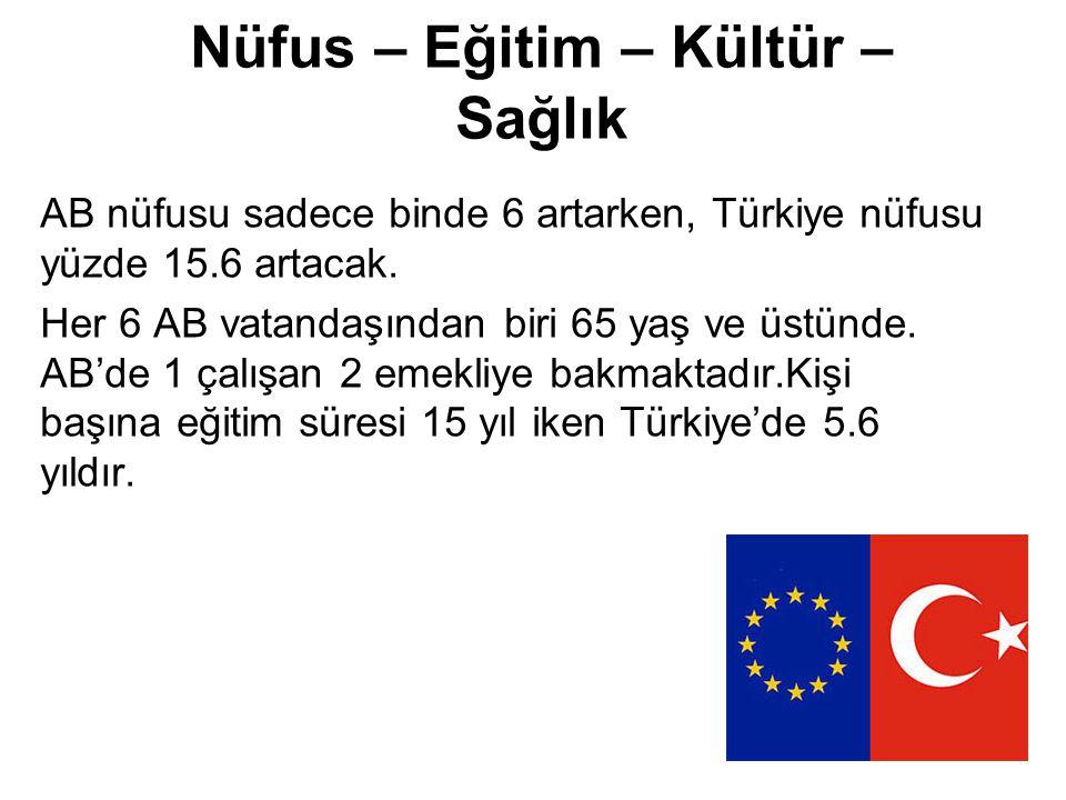 Tarım Türkiye'de çalışan nüfusun yüzde 34'ü, toplam nüfusun ise yüzde 50'si köylüdür, tarıma dayanır.