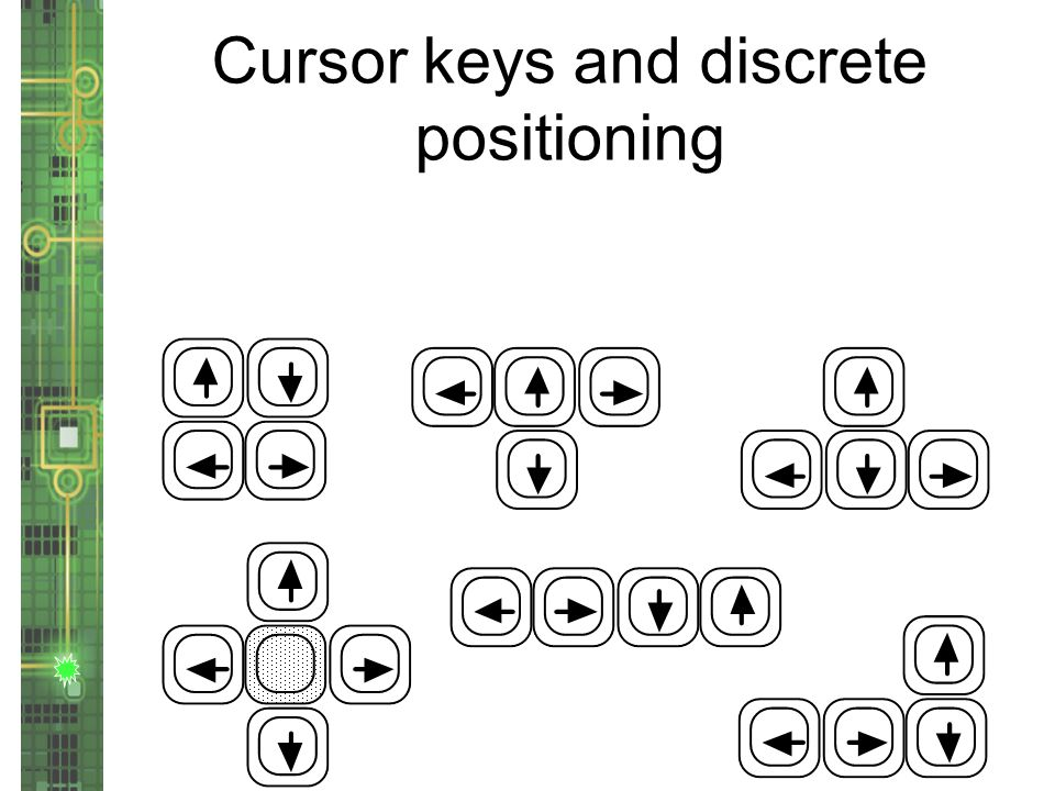 Cursor keys and discrete positioning