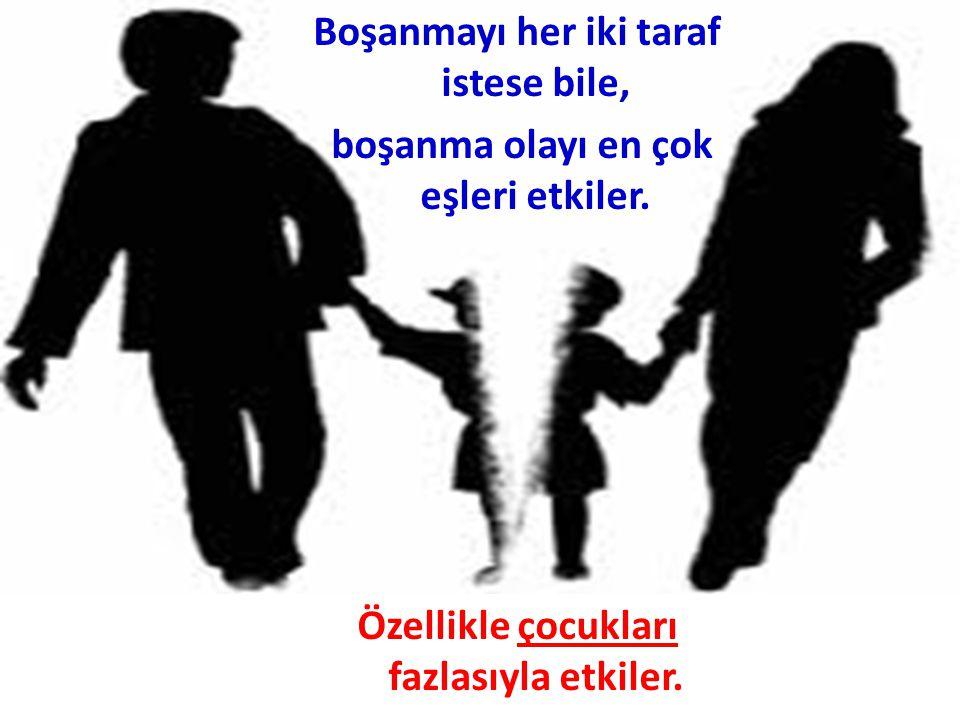 Boşanma çocuğun yaşına, kişilik gelişimine, anne-baba tutumlarına ve çocuğun cinsiyetine göre değişim göstermektedir.