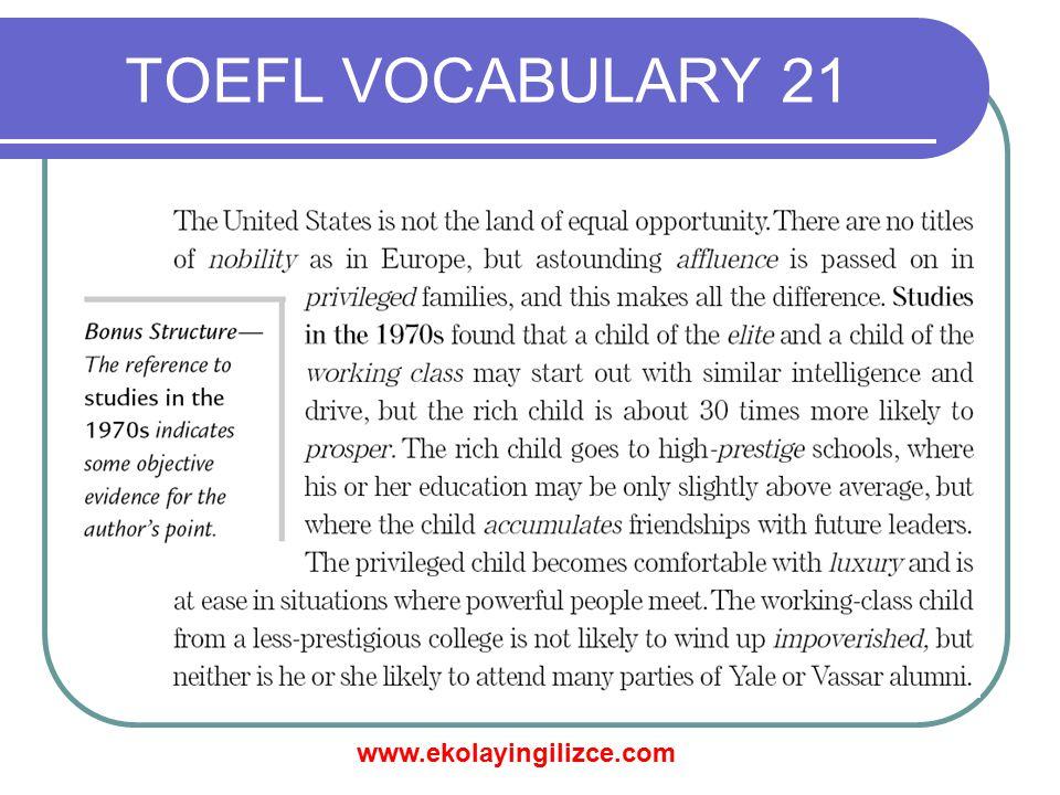 TOEFL VOCABULARY 21