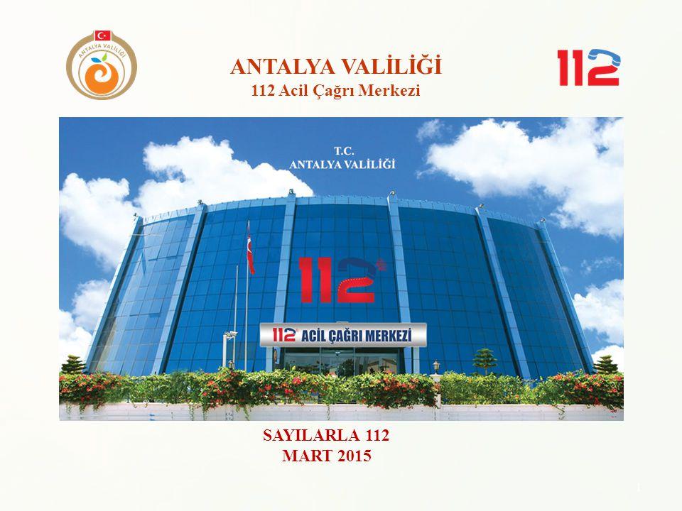 ANTALYA VALİLİĞİ 112 Acil Çağrı Merkezi SAYILARLA 112 MART 2015 1