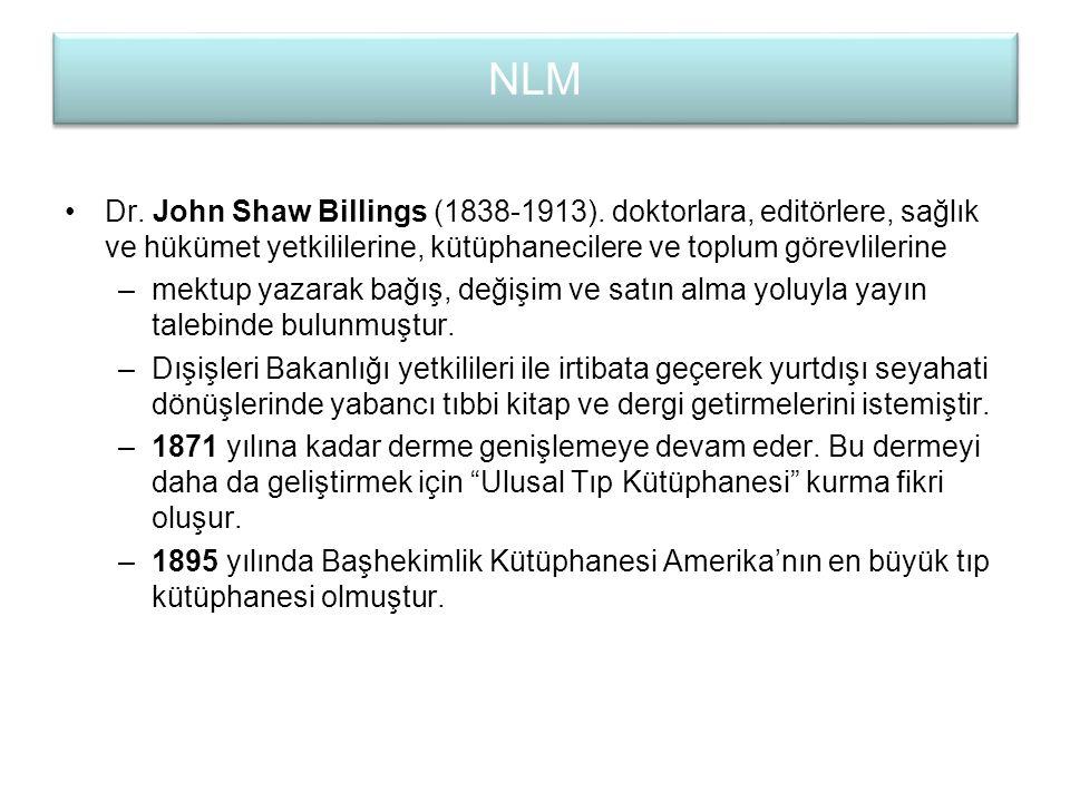 Billings kütüphanecilikte dönüm noktası olacak iki danışma kaynağını meydana getirmiştir.