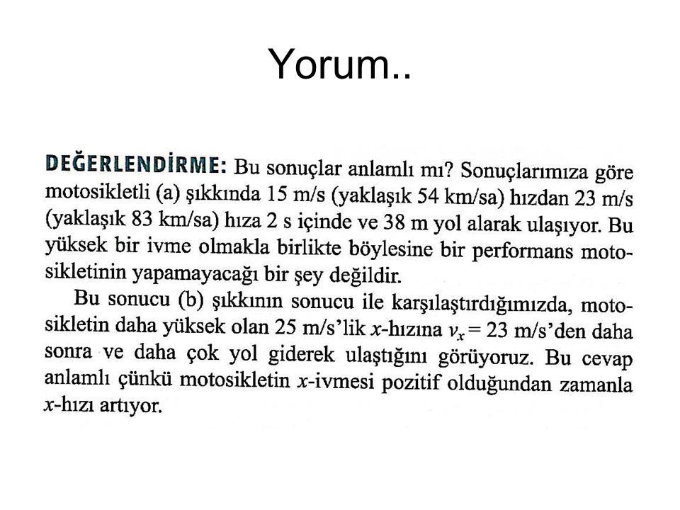 Yorum..
