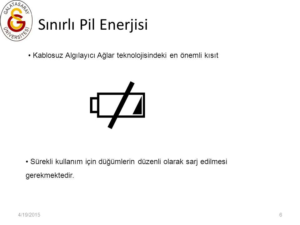 4/19/20157 SHIMMER (Sensing Health with Intelligence, Modularity, Mobility and Experimental Reusability) http://www.shimmer-research.com/ Giyilebilen donanım şeklinde tasarlanmıştır.