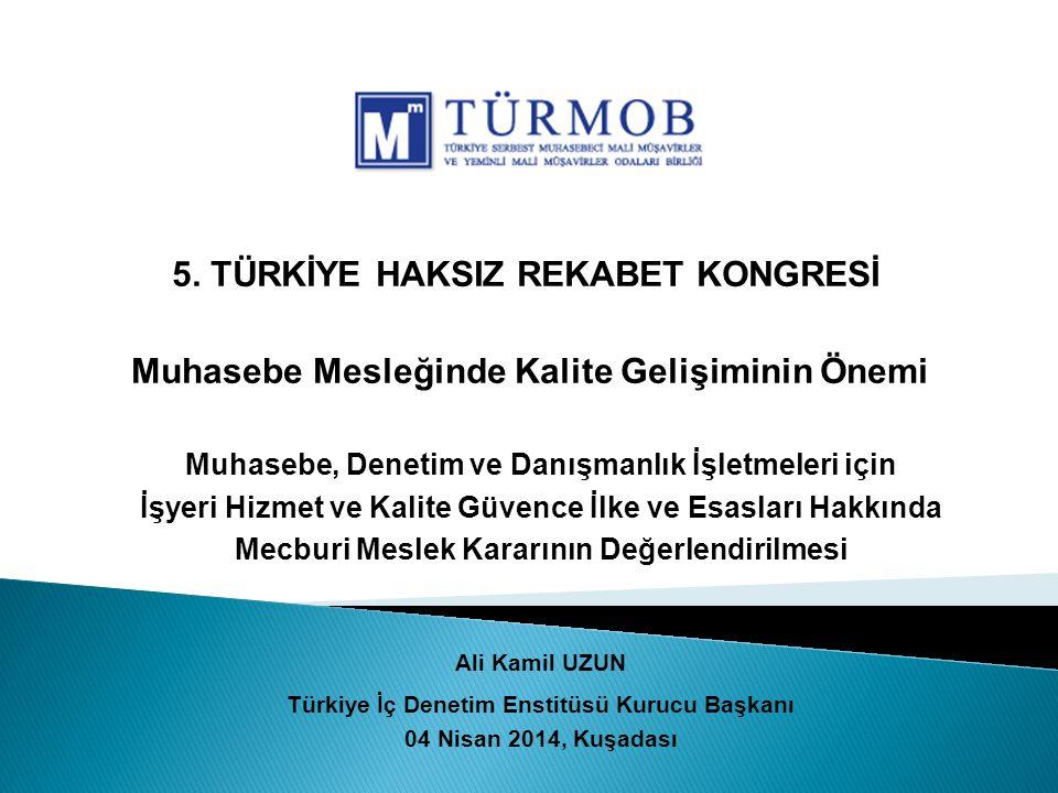 Ali Kamil Uzun / Nisan 201412 Mesleği Geleceğe Taşımak İçin ….