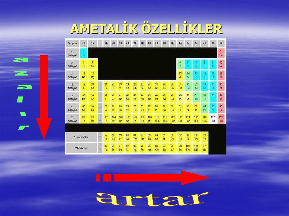 METALİK ÖZELLİKLER