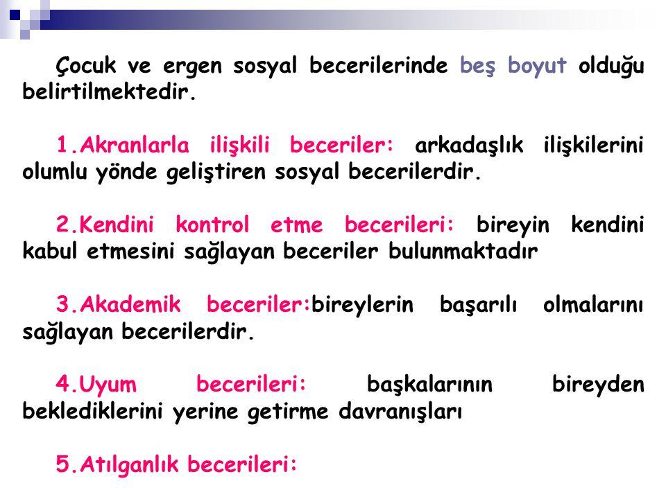 SOSYAL BECERİ YETERSİZLİĞİ-SOSYAL REDDİN ARTIŞI 3.