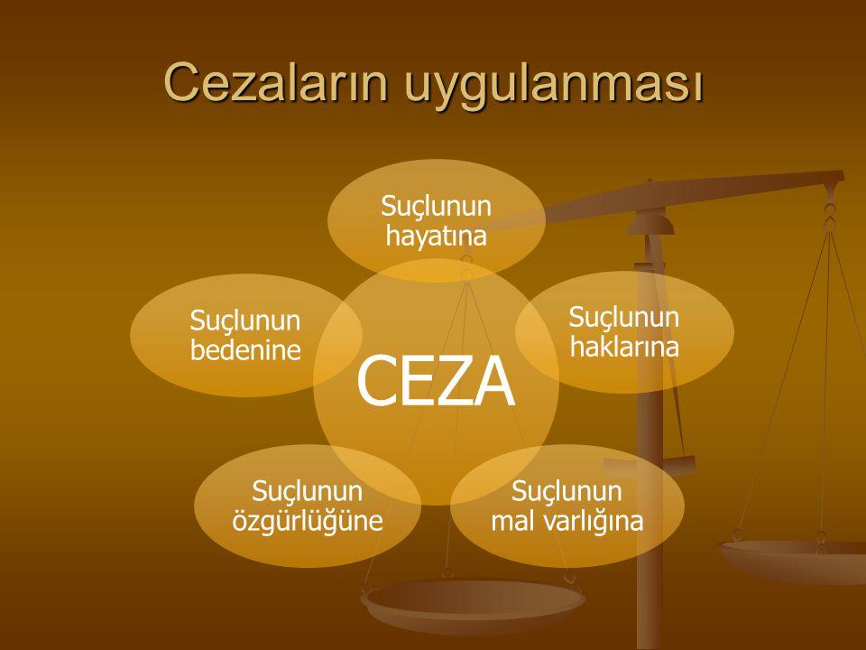 Cezaların Uygulanması A.Adli Cezalar: Mahkemeler tarafından verilir.