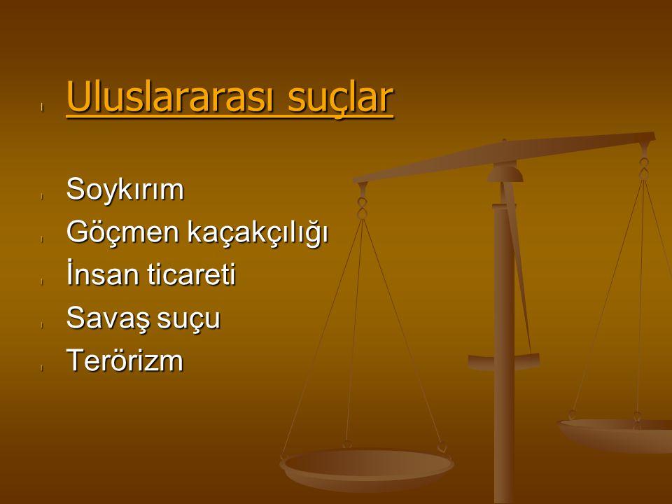 Cezaların uygulanması CEZA Suçlunun hayatına Suçlunun haklarına Suçlunun mal varlığına Suçlunun özgürlüğüne Suçlunun bedenine