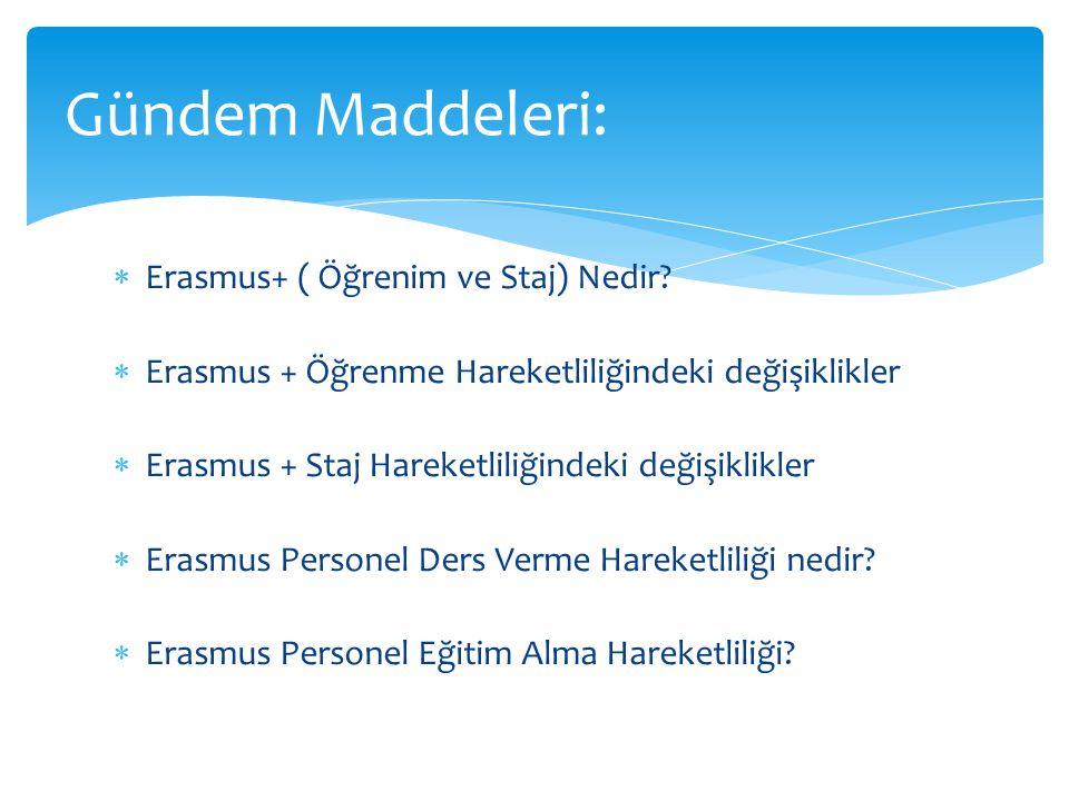  Erasmus+ ( Öğrenim ve Staj) Nedir.