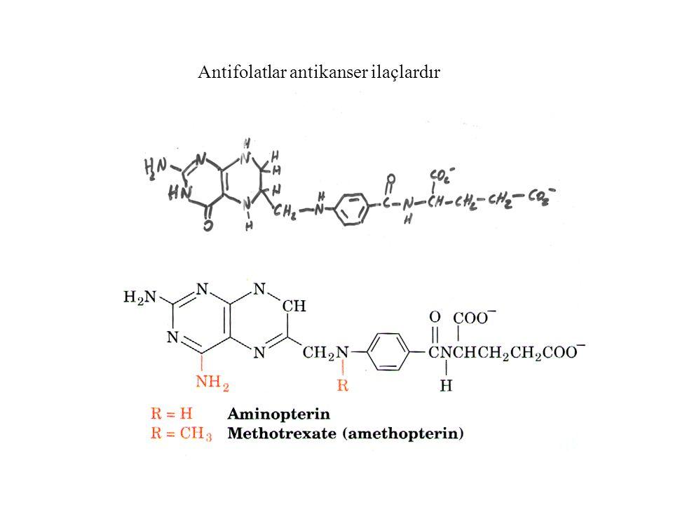 Antifolatlar antikanser ilaçlardır