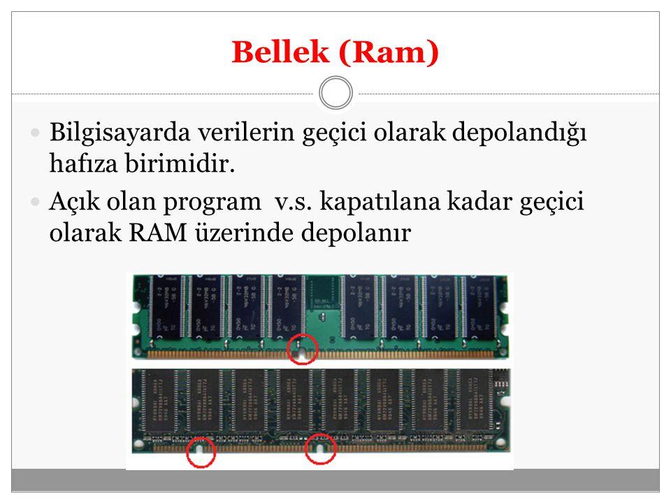 Sabit Disk (Harddisk) Verileri kalıcı olarak depolayan hafıza birimidir.