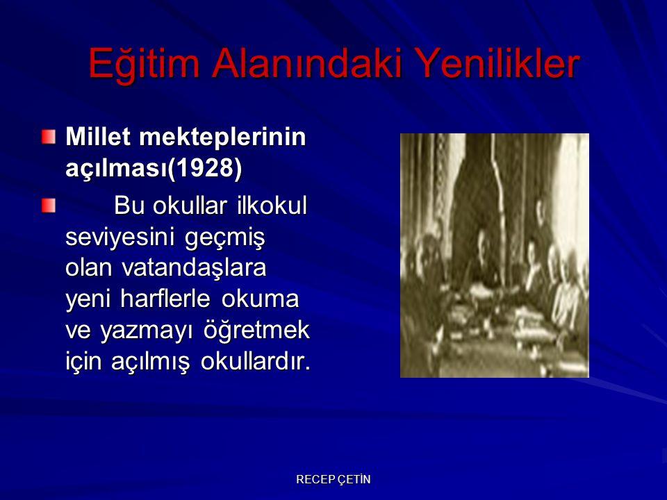 Eğitim Alanındaki Yenilikler - Üniversite Reformunun Yapılması 1934'te yapılan üniversite reformu ile İstanbul Üniversitesi kurularak, batı tarzında uyarlandı.