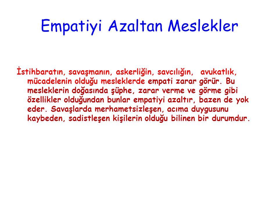Empatiyi Gerektiren Meslekler Empatik kişiler, insanlara yardım etmenin önemli olduğu alanlarda daha başarılı olurlar. İletişim bilimci, sosyal bilimc