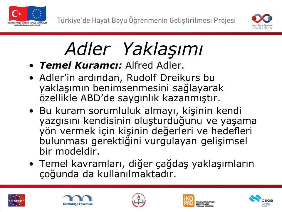 Adler Yaklaşımı Temel Kuramcı: Alfred Adler.