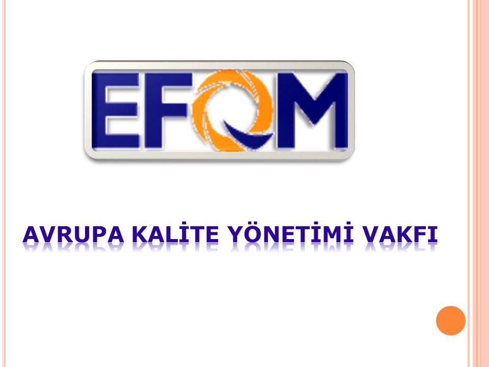 EFQM HAKKINDA EFQM Avrupa'nın başlıca 14 şirketinin başkanları tarafından 1988 yılında Bürüksel'de kuruldu.