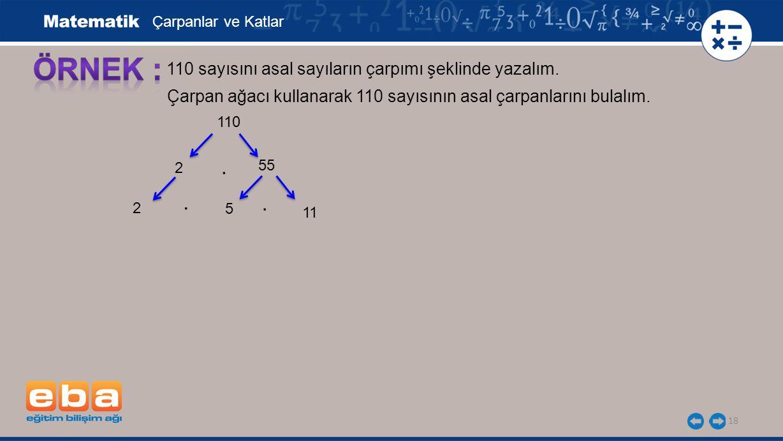 19 110 sayısını asal sayıların çarpımı şeklinde yazalım.