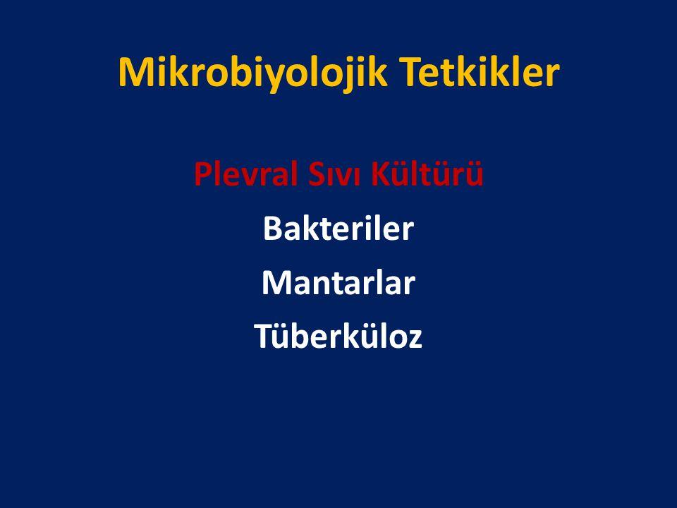 Mikrobiyolojik Tetkikler Plevral Sıvı Kültürü Bakteriler Mantarlar Tüberküloz