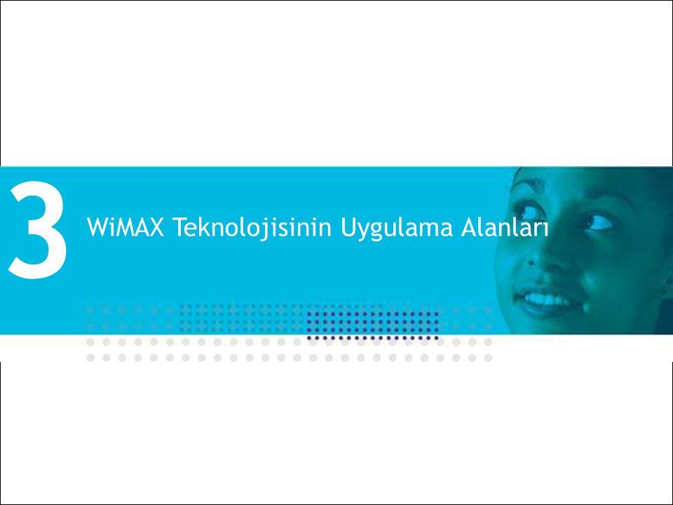 All Rights Reserved © Alcatel-Lucent 2008 18 | Alcatel-Lucent WiMAX ve Uygulamalar | Ekim 2008 WiMAX Teknolojisinin Uygulama Alanları 3