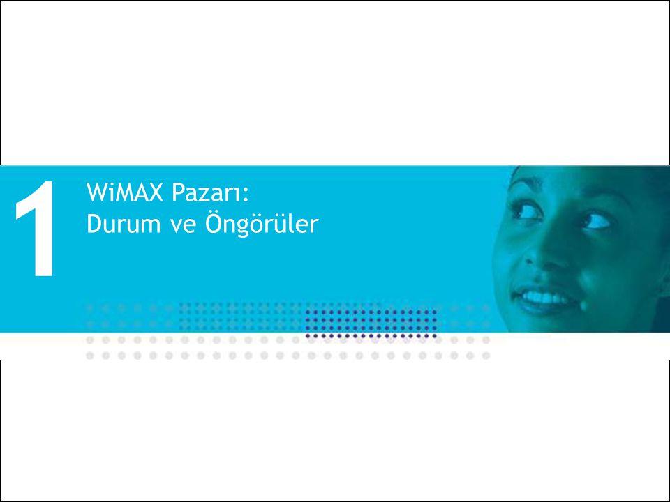 All Rights Reserved © Alcatel-Lucent 2008 3 | Alcatel-Lucent WiMAX ve Uygulamalar | Ekim 2008 WiMAX Pazarı: Durum ve Öngörüler 1
