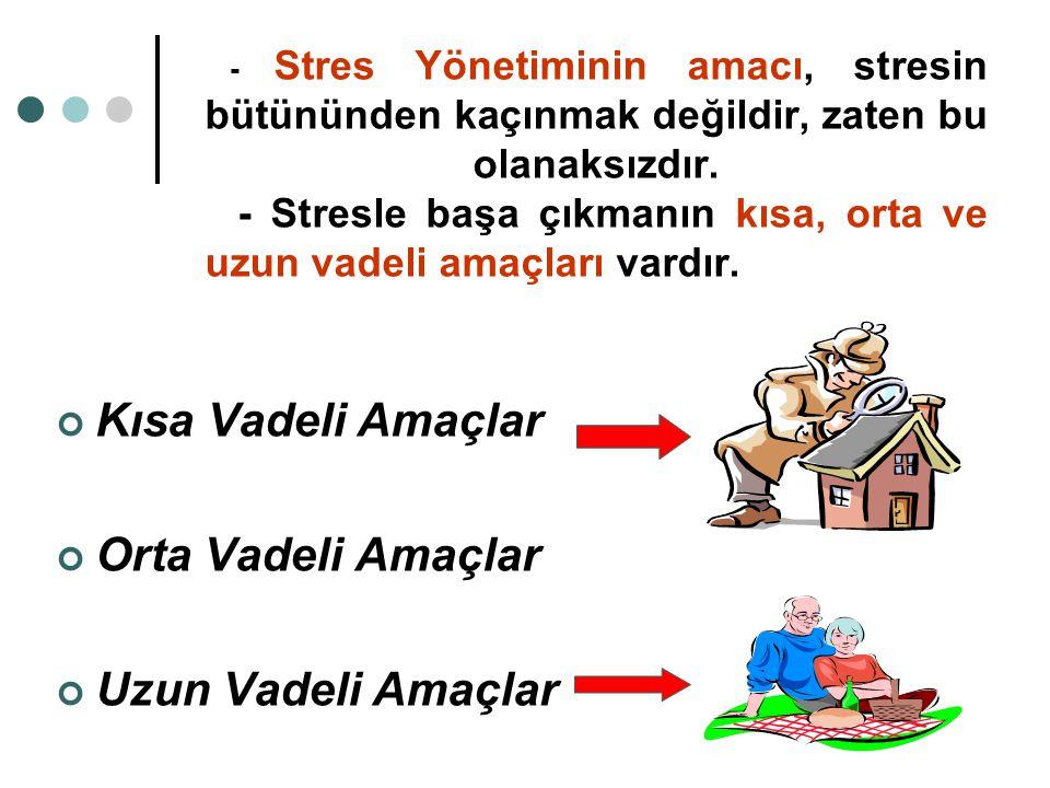 İnsanlar stresle başa çıkmada daha somut ve daha duruma uygun özel çabalar sarf etmektedirler.