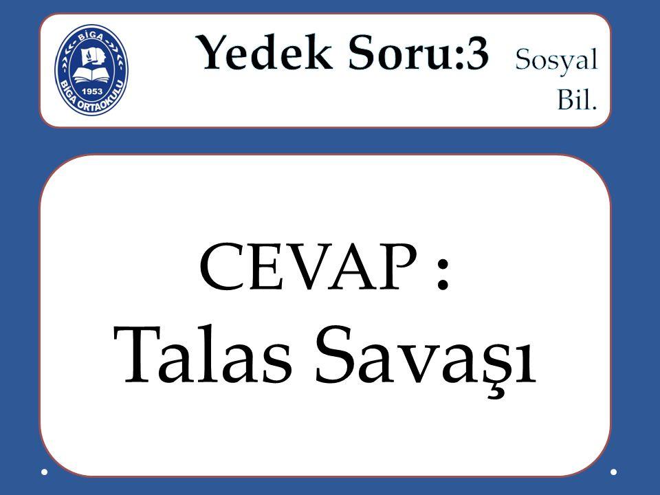 CEVAP : Talas Savaşı
