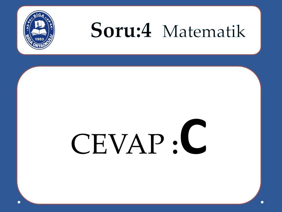 CEVAP : C