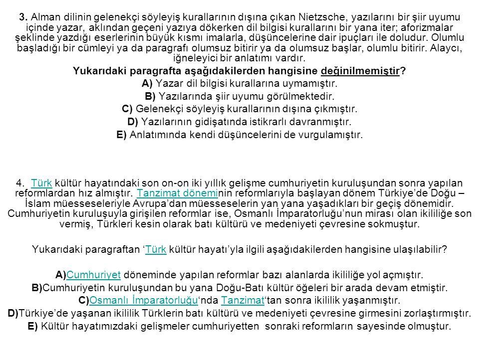 5.Çağdaşları arasında en büyük şairdi Atilla İlhan.
