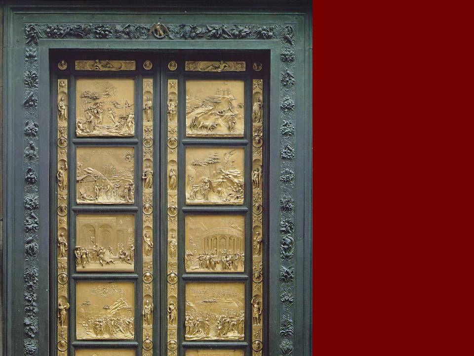 Ghiberti Cennetin kapıları (Doğu Kapı) Cennetin kapıları (Doğu Kapı) 80x80 80x80 Bronze kaplama Bronze kaplama Floransa Vaftizhane Floransa Vaftizhane