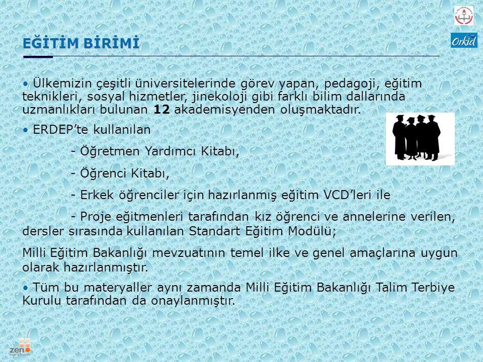MİLLİ EĞİTİM BAKANLIĞI ERDEP projesinde Milli Eğitim Bakanlığı; Sağlık İşleri Dairesi Başkanlığı tarafından temsil edilmektedir.