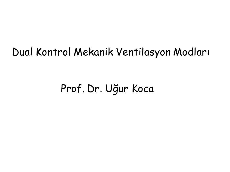 Dual Kontrol Mekanik Ventilasyon Modları Prof. Dr. Uğur Koca