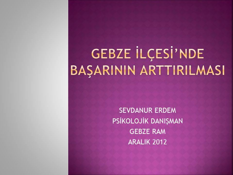 SEVDANUR ERDEM PSİKOLOJİK DANIŞMAN GEBZE RAM ARALIK 2012