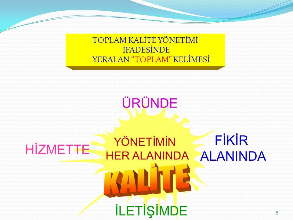 9 Toplam Kalite Yönetimi,  Gönülleri kazanmaktır.