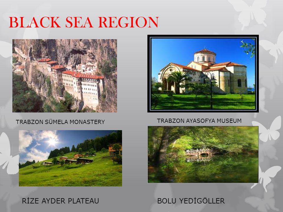 BLACK SEA REGION TRABZON SÜMELA MONASTERY TRABZON AYASOFYA MUSEUM RİZE AYDER PLATEAUBOLU YEDİGÖLLER