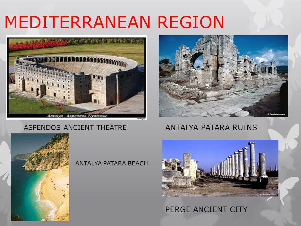 MEDITERRANEAN REGION ASPENDOS ANCIENT THEATRE ANTALYA PATARA RUINS ANTALYA PATARA BEACH PERGE ANCIENT CITY