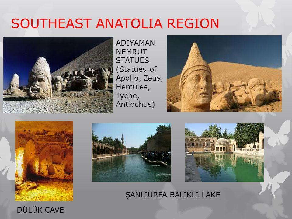 SOUTHEAST ANATOLIA REGION ADIYAMAN NEMRUT STATUES (Statues of Apollo, Zeus, Hercules, Tyche, Antiochus) DÜLÜK CAVE ŞANLIURFA BALIKLI LAKE