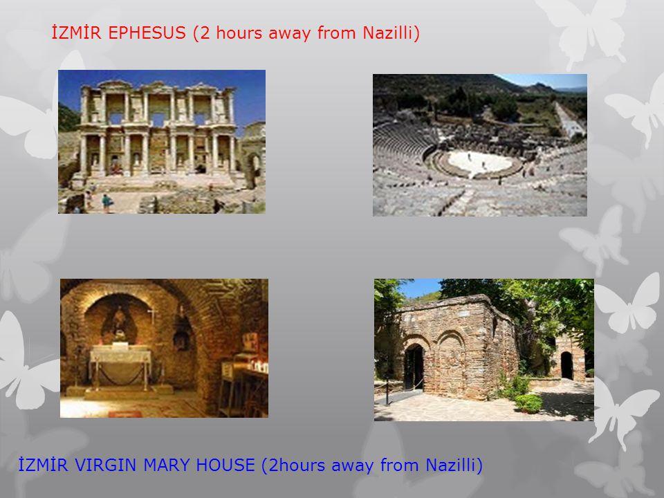 İZMİR EPHESUS (2 hours away from Nazilli) İZMİR VIRGIN MARY HOUSE (2hours away from Nazilli)