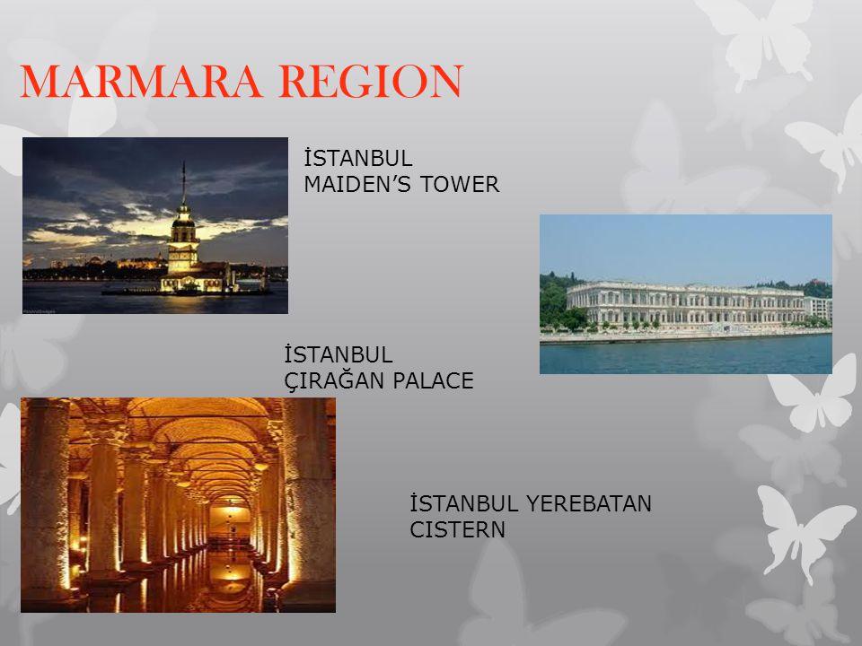 MARMARA REGION İSTANBUL MAIDEN'S TOWER İSTANBUL ÇIRAĞAN PALACE İSTANBUL YEREBATAN CISTERN