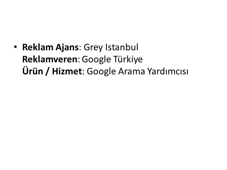 Reklam Ajans: Grey Istanbul Reklamveren: Google Türkiye Ürün / Hizmet: Google Arama Yardımcısı