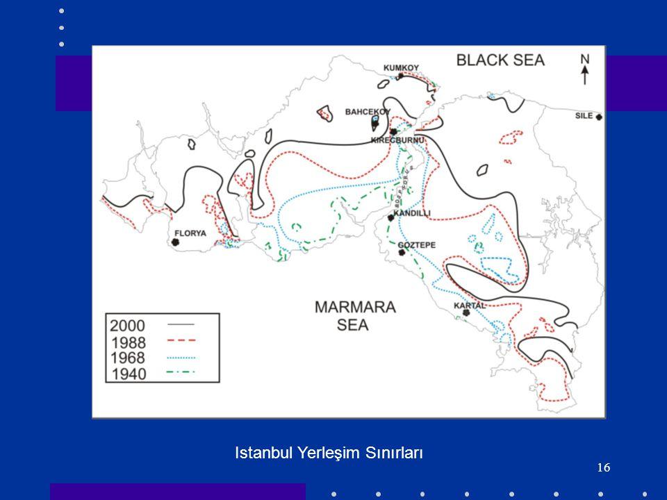 16 Istanbul Yerleşim Sınırları