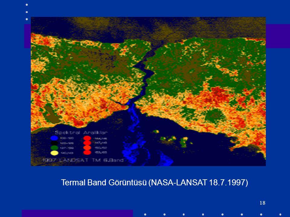 18 Termal Band Görüntüsü (NASA-LANSAT 18.7.1997)
