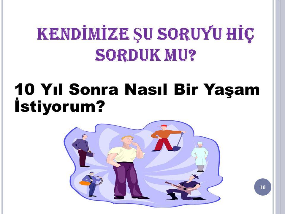 KENDİNİ TANIMA İLGİLERİMİZ -Mekanik -Ticaret -Sosyal Yardım vb.
