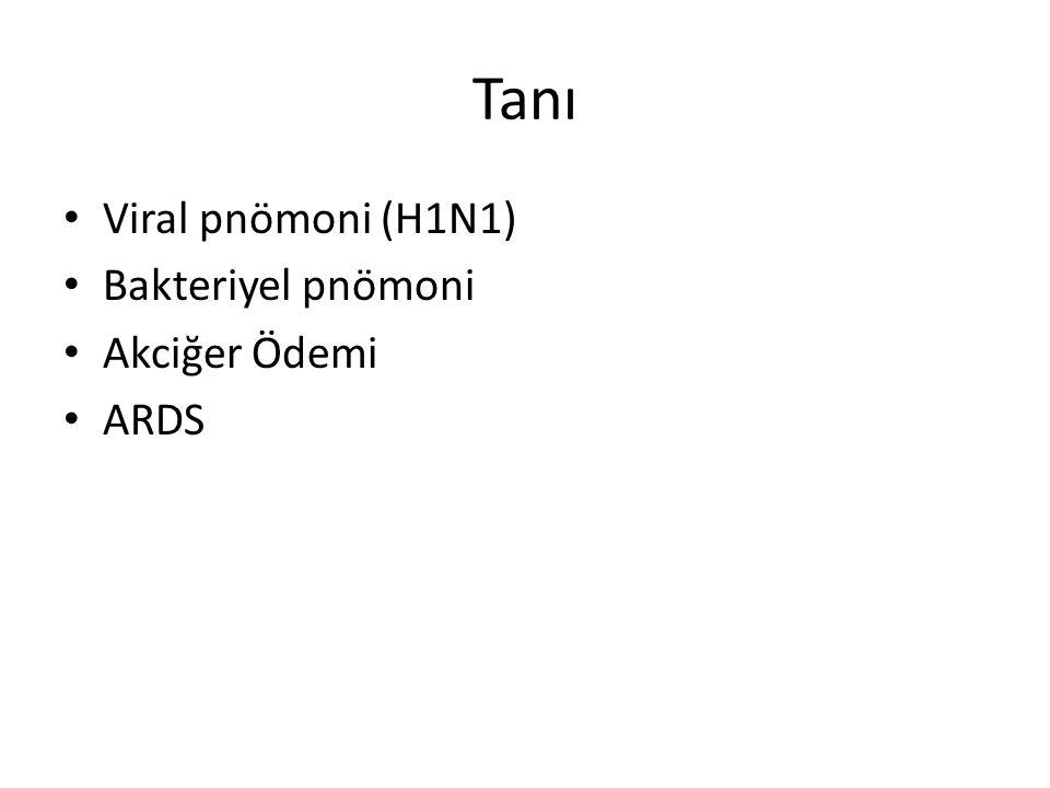 Viral pnömoni (H1N1) Bakteriyel pnömoni Akciğer Ödemi ARDS
